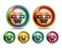 Specjalny Oferty 'Najlepszej Ceny' Guzika Set Fotografia Stock