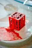 Specjalny prezenta pudełko w Chińskim ślubie fotografia royalty free