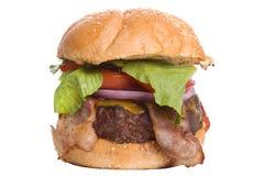 Speck-Cheeseburger Lizenzfreie Stockfotos
