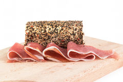 Speck and pepper cheese Royalty Free Stock Photography