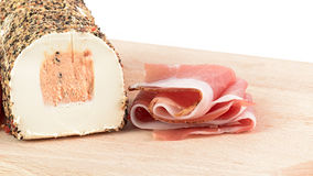 Speck and pepper cheese Royalty Free Stock Photos