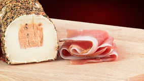 Speck and pepper cheese Royalty Free Stock Photo