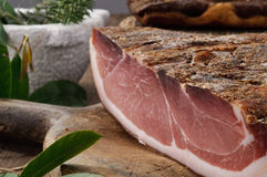 Speck, typica salami, Italy royalty free stock photos