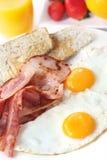 Speck und Eier Stockbild