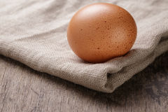 Speckled chicken egg or old table Stock Photography