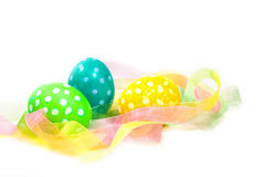 Speckled Easter eggs Royalty Free Stock Photos