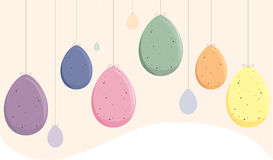 Speckled Easter Eggs. Easter Eggs Hanging from strings as decorations Stock Images