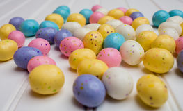 Speckled Easter Eggs Royalty Free Stock Images