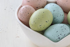 Speckled Easter Eggs Royalty Free Stock Image