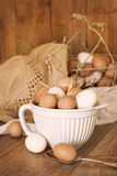 Speckled Eggs Stock Photo