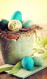 Speckled eggs with vintage feeling Royalty Free Stock Photos