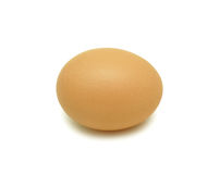 Speckled Hens Egg, isolated Stock Image