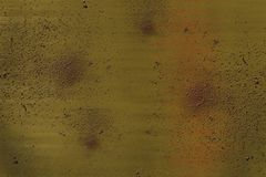 Speckled metallic background showing signs of rust stock photo