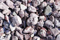Speckled peeblestones surface as natural background Stock Photos