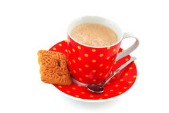 Speckles cup of coffee Stock Images