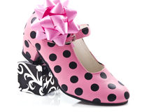 Speckles shoe. A speckles shoe with some decoration isolated Stock Image