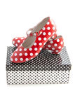 Speckles spanish shoes Royalty Free Stock Photos