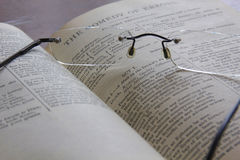 Specs on pages Stock Images