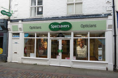 Specsavers-Optiker-Speicherfront in Hexham Lizenzfreies Stockfoto