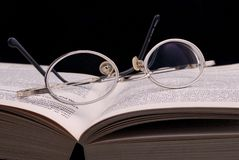 Spectacle and Book Stock Photos