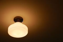 Spectacle of ceiling lighting. Spectacle of orange lighting on the ceiling Stock Photos