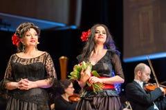 Spectacle comportant Filharmonia Futura et M Walewska - l'opéra est la vie, Photo stock