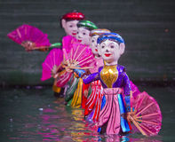 Spectacle de marionnettes de l'eau Photographie stock libre de droits