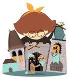 Spectacle de marionnettes de marionnette illustration de vecteur