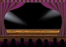 Spectacle de théâtre Images libres de droits