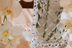 Spectacle of flower vases in the room. Spectacle of the flower glass vase in the room Stock Image