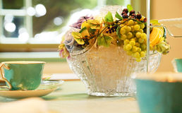 Spectacle of flower vases in the room. Spectacle of the flower glass vase in the room Stock Photos