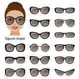 Spectacle frames and square face Royalty Free Stock Photos