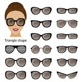 Spectacle frames and triangular face Royalty Free Stock Photography