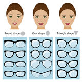 Spectacle frames for women face shapes Stock Images