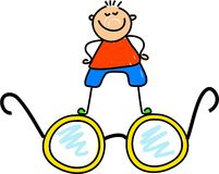 Spectacle kid Stock Photos
