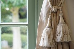 Spectacle of room window. And curtain Royalty Free Stock Images