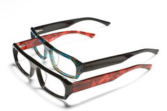 Spectacles. Modern design of spectacles, suitable for youngsters Stock Image