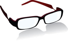 Spectacles. Vector spectacles isolated on white background with shadow Royalty Free Stock Photos