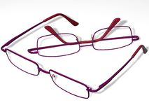 Spectacles. 2 spectacles located on a white background Stock Illustration