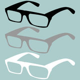 Spectacles black grey white colour. Royalty Free Stock Photo