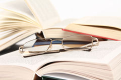 Spectacles on book Royalty Free Stock Photo
