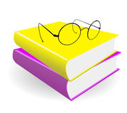 Spectacles and books Royalty Free Stock Photo