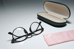 Spectacles and Case Stock Photo