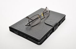 Spectacles electronic book Royalty Free Stock Images