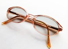 Spectacles. Glasses for magnifying vision Royalty Free Stock Images