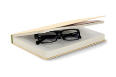 Spectacles In Hardcover Book Royalty Free Stock Photo