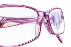 Spectacles. Modern spectacles isolated on white background. close up Stock Photos