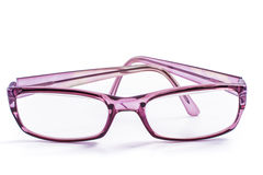 Spectacles. Modern spectacles isolated on white background. close up Royalty Free Stock Image