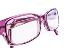 Spectacles. Modern spectacles  on white background. close up Royalty Free Stock Image