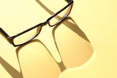 Spectacles With Shadow Royalty Free Stock Photography